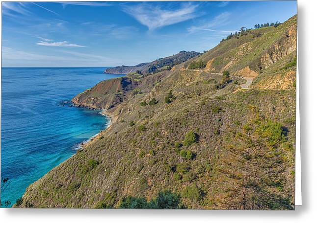 Pch Greeting Cards - Big Sur Coastline 3 Greeting Card by Nadim Baki