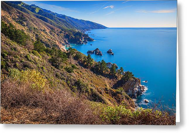 Coast Highway One Greeting Cards - Big Sur Coastline 5 Greeting Card by Nadim Baki