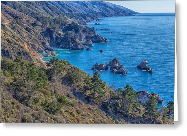 Coast Highway One Greeting Cards - Big Sur Coastline 6 Greeting Card by Nadim Baki