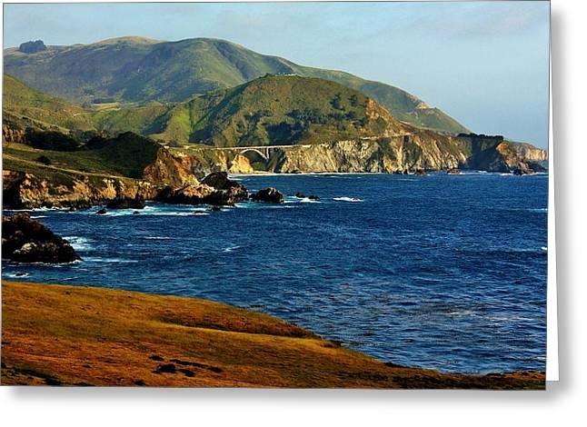Big Sur Coastline Greeting Card by Benjamin Yeager