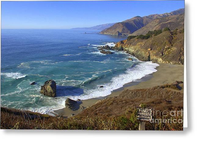 Big Sur Beach Greeting Cards - Big Sur Coastline Greeting Card by Carol Komassa