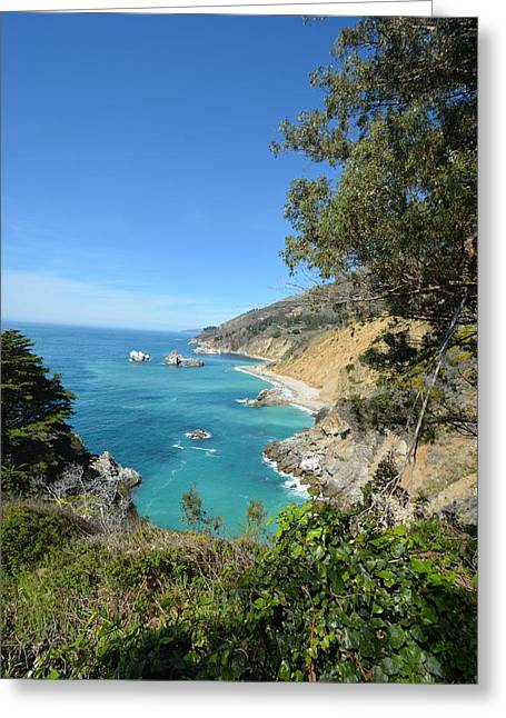 Coast Hwy Ca Greeting Cards - Big Sur Coastline Greeting Card by Rachel Cash