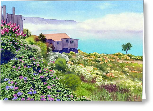 California Central Coast Greeting Cards - Big Sur Cottage Greeting Card by Mary Helmreich