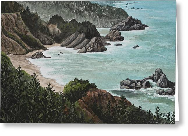 Big Sur Beach Paintings Greeting Cards - Big Sur Greeting Card by Darice Machel McGuire