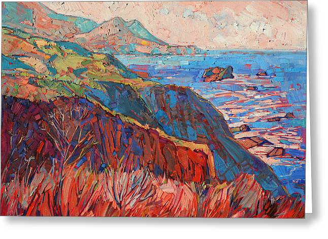 Big Sur Greeting Cards - Big Sur Greeting Card by Erin Hanson