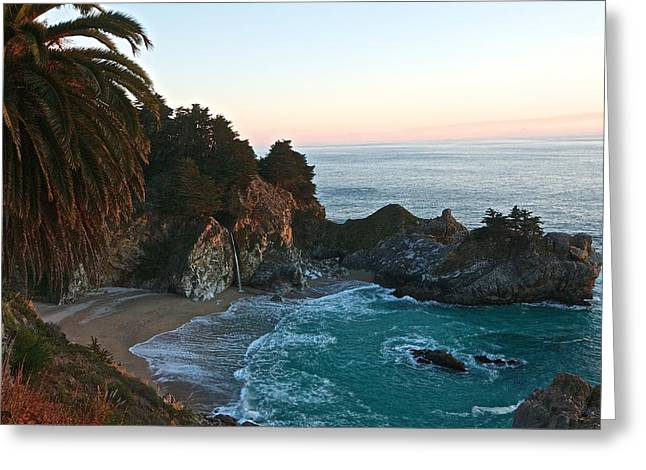 Big Sur Falls Greeting Card by Michael Breshears