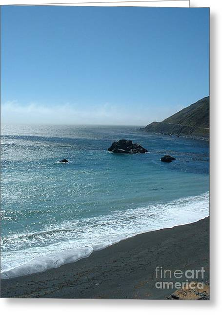 Big Sur Foam Greeting Card by Greg Cross