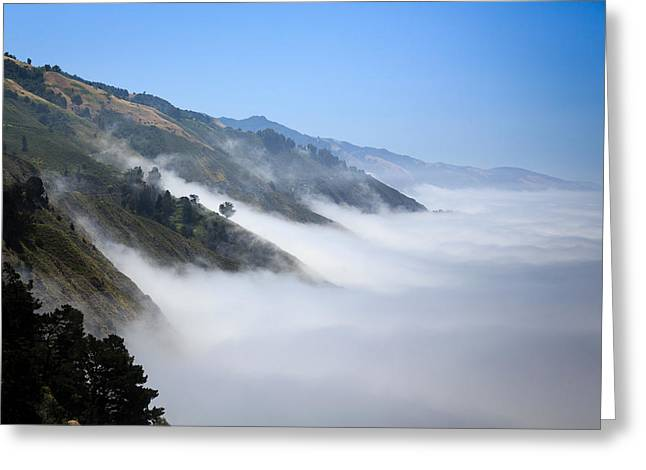 Coast Highway One Greeting Cards - Big Sur Fog Greeting Card by Mathew Lodge