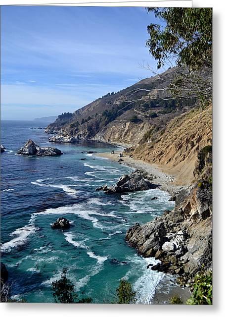 Big Sur Beach Digital Art Greeting Cards - Big Sur Greeting Card by Kaedi Maney