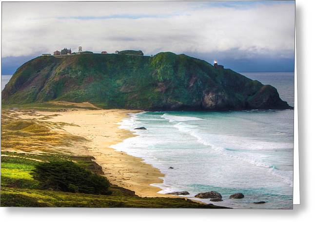 Big Sur Greeting Cards - Big Sur Light Station Greeting Card by Kandy Hurley