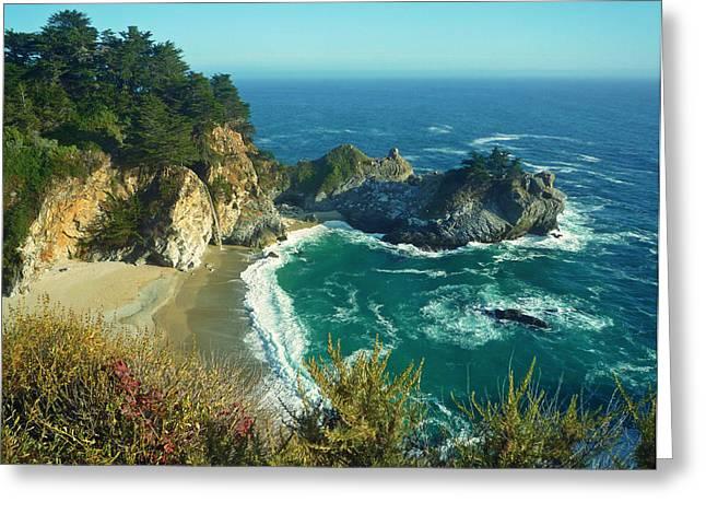 Pfeiffer Beach Greeting Cards - Big Sur Little Cove Greeting Card by Ashley Keegan