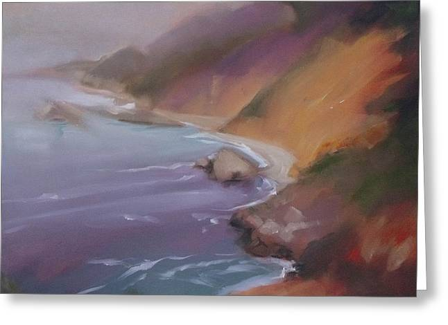Big Sur Beach Greeting Cards - Big Sur Greeting Card by Mary Hubley