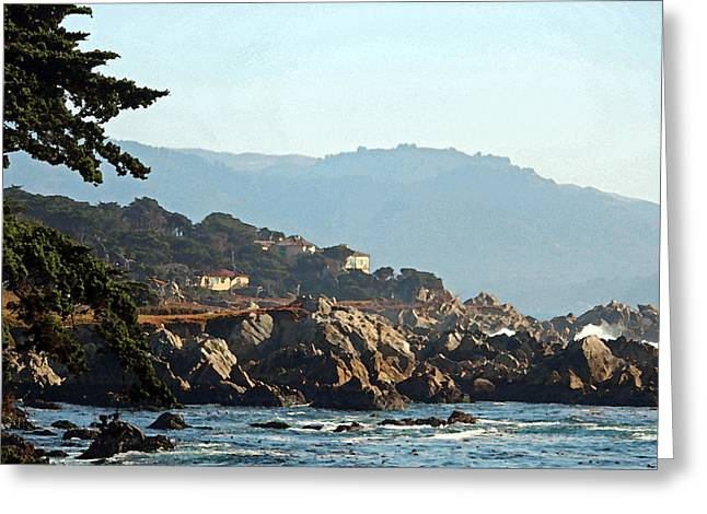 Big Sur California Greeting Cards - Big Sur Near Cypress Point II Greeting Card by Suzanne Gaff