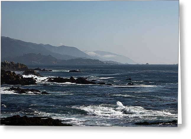 Big Sur California Greeting Cards - Big Sur near Cypress Point III Greeting Card by Suzanne Gaff