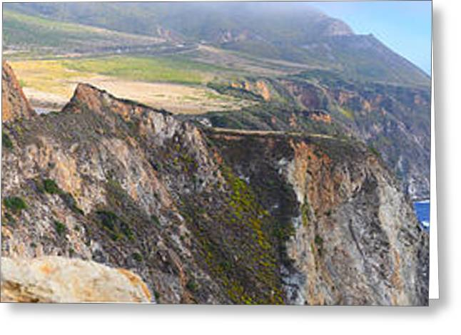 Big Sur California Greeting Cards - Big Sur Panorama Greeting Card by Rincon Road Photography