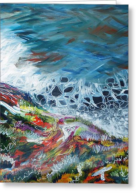 Big Sur Greeting Cards - Big Sur Sea Greeting Card by Laura Hol Art