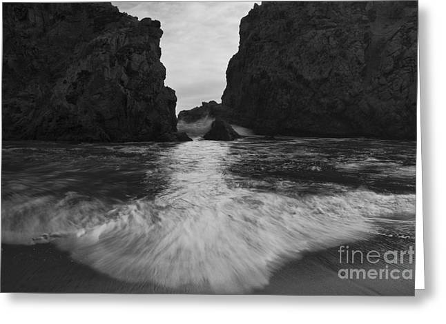 Sea Route Greeting Cards - Big Sur Seascape Greeting Card by Keith Kapple