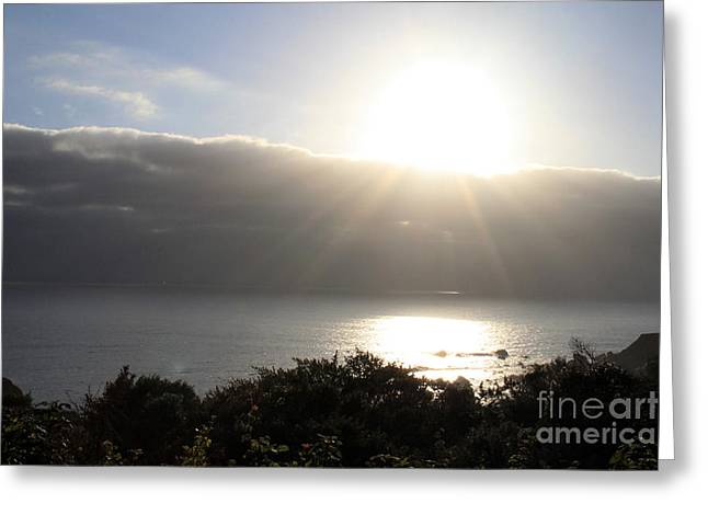 Big Sur Beach Photographs Greeting Cards - Big Sur Sunset Greeting Card by Linda Woods