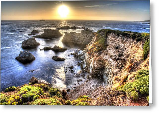 Big Sur Beach Greeting Cards - Big Sur Sunset Greeting Card by Shawn Everhart