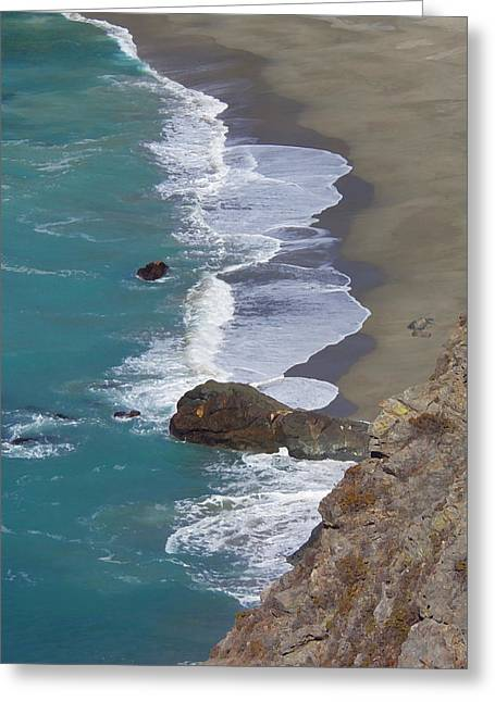 California Big Wave Surf Greeting Cards - Big Sur Surf Greeting Card by Art Block Collections
