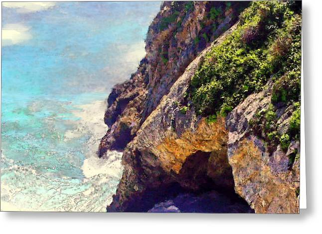 Big Sur Beach Greeting Cards - Big Sur Swirl Greeting Card by Jim Pavelle