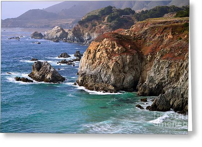 Big Sur California Greeting Cards - Big Sur Vista Greeting Card by Rincon Road Photography