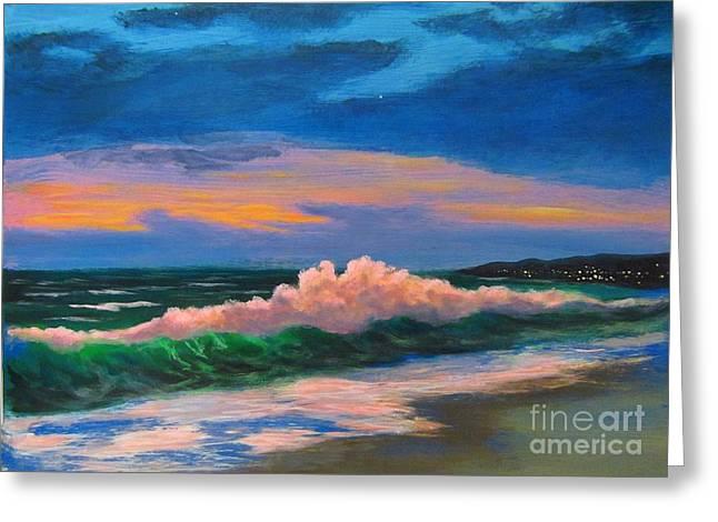 Big Sur California Greeting Cards - Big Surf at Sunset Greeting Card by John Malone