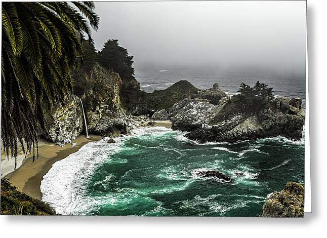 Big Sur California Greeting Cards - Big Surs emerald Oaza Greeting Card by Eduard Moldoveanu