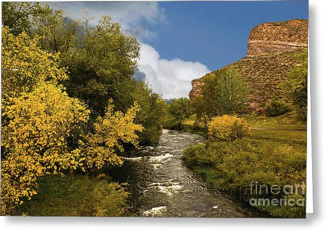 Mummy Range Greeting Cards - Big Thompson River 2 Greeting Card by Jon Burch Photography