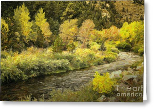 Mummy Range Greeting Cards - Big Thompson River 4 Greeting Card by Jon Burch Photography