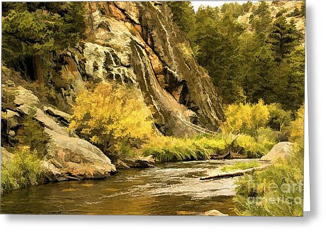 Mummy Range Greeting Cards - Big Thompson River 5 Greeting Card by Jon Burch Photography