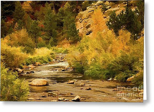 Mummy Range Greeting Cards - Big Thompson River 8 Greeting Card by Jon Burch Photography