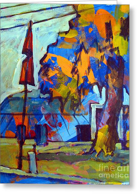 Amateur Greeting Cards - Big Top Acrylic sketch Greeting Card by Charlie Spear