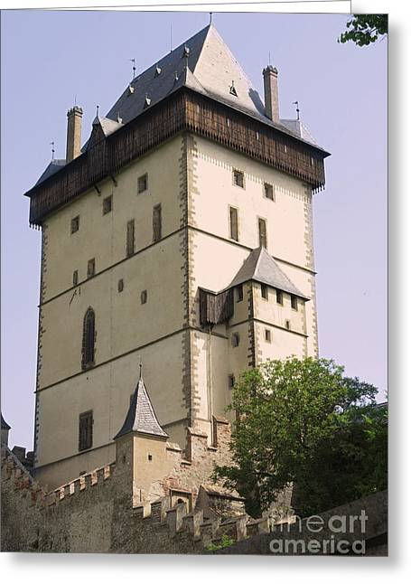 Strengthen Photographs Greeting Cards - Big Tower - Karlstejn castle Greeting Card by Michal Boubin