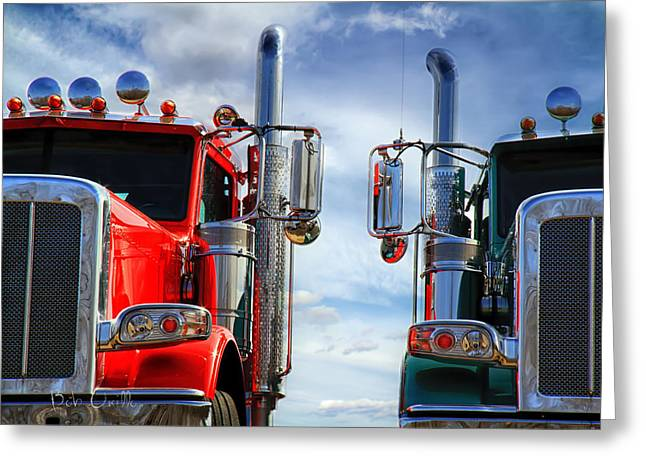 Convoy Greeting Cards - Big Trucks Greeting Card by Bob Orsillo
