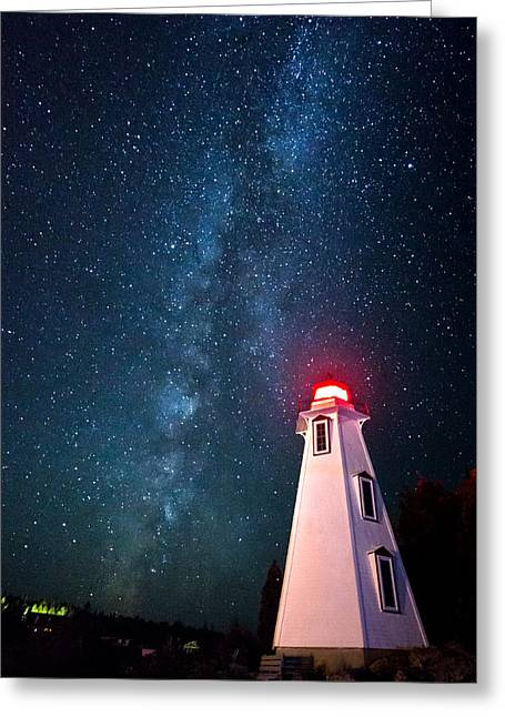 Huron Coast Greeting Cards - Big Tub Lighthouse Greeting Card by Cale Best