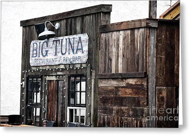 Raw Oyster Greeting Cards - Big Tuna Greeting Card by John Rizzuto