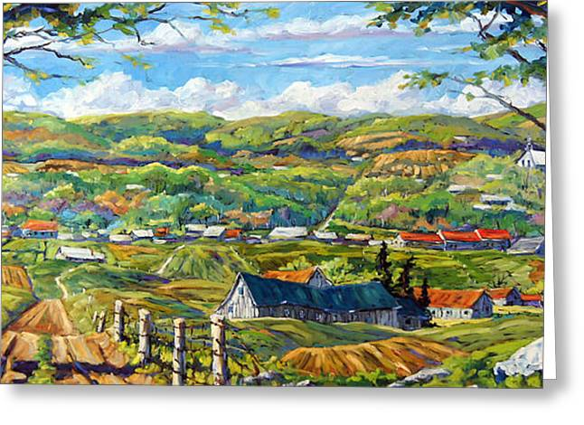 Artiste Quebecois Du Canada Greeting Cards - Big Valley by Prankearts Greeting Card by Richard T Pranke