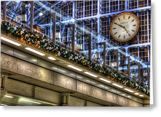 Punctual Greeting Cards - Big Watch at the Train Station Greeting Card by Rony Ambrose Gobilee