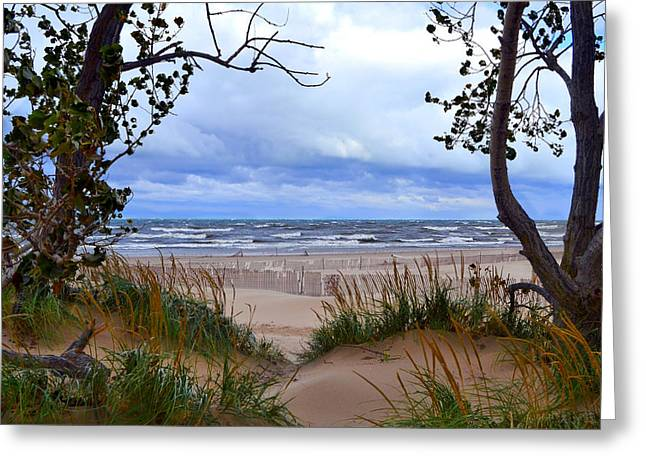 Photograph Greeting Cards - Big Waves on Lake Michigan 2.0 Greeting Card by Michelle Calkins