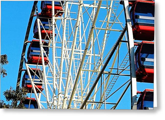 Big Wheel Greeting Card by Kaye Menner