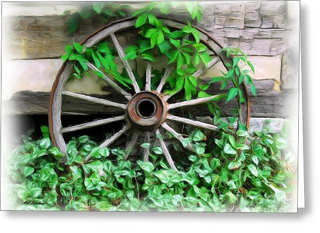 Wooden Wagons Greeting Cards - Big Wheel Greeting Card by Mel Steinhauer