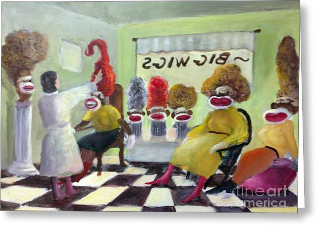 Randy Burns Greeting Cards - Big Wigs and False Teeth Greeting Card by Randy Burns