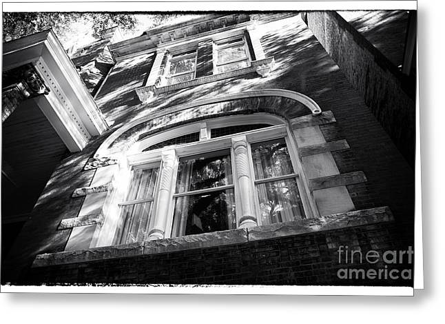 Old School House Greeting Cards - Big Window Greeting Card by John Rizzuto