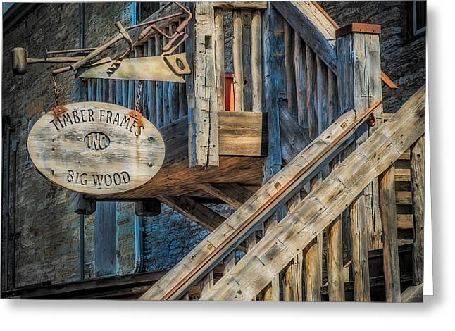 Stair Case Greeting Cards - Big Wood Greeting Card by Paul Freidlund