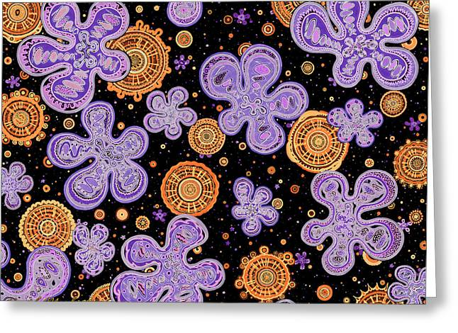 Orange Drawings Greeting Cards - Bigbis - Inversion Greeting Card by Dave Migliore