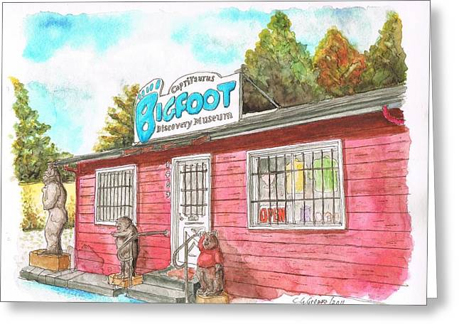 Bigfoot Discovery Museum In Felton - California Greeting Card by Carlos G Groppa