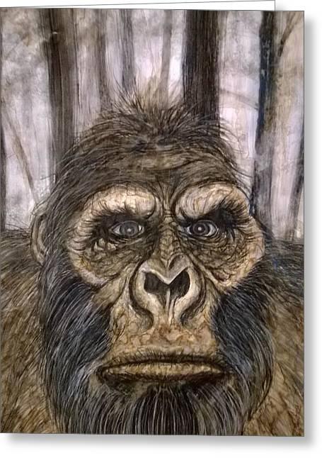Yeti Greeting Cards - Bigfoot  Greeting Card by Justin Boysko