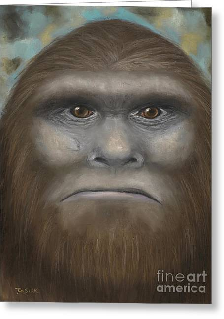 Science Fiction Pastels Greeting Cards - Bigfoot Greeting Card by Rebekah Sisk