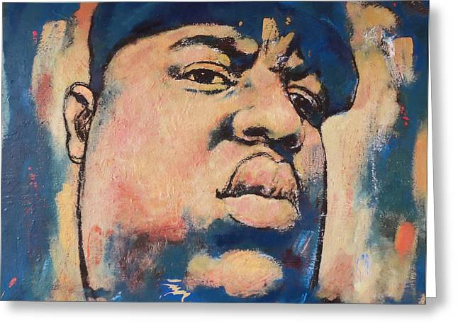 March Greeting Cards - Biggie Smalls art painting poster Greeting Card by Kim Wang
